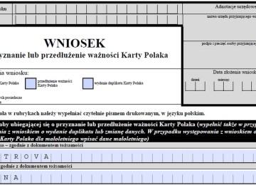 Внесек (Wniosek) на карту поляка