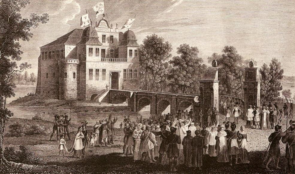 Замок в Курнике, 1842 год