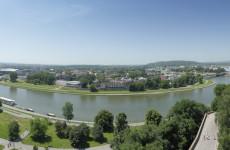 Вид с башни Sandomierska, сезонная экспозиция