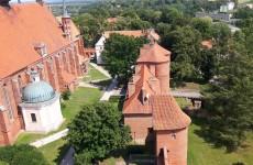 Вид на замок с башни Радзеёвского, Фромборк