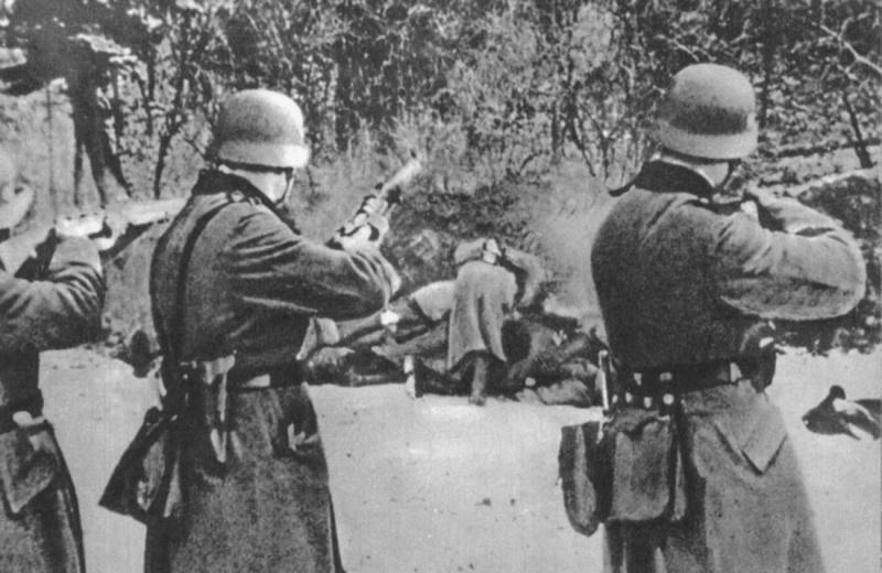 Казнь немцами польских граждан