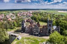 Замок в Копице с высоты птичьего полета