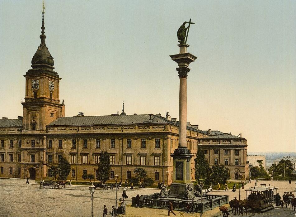Королевский замок в Варшаве, 1900 год