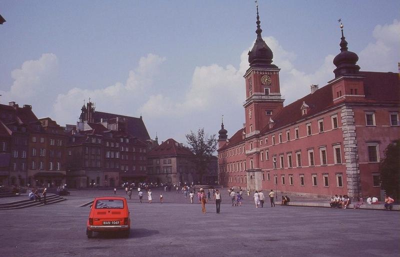 Заново отстроенный Королевский замок, Варшава, 1981 год