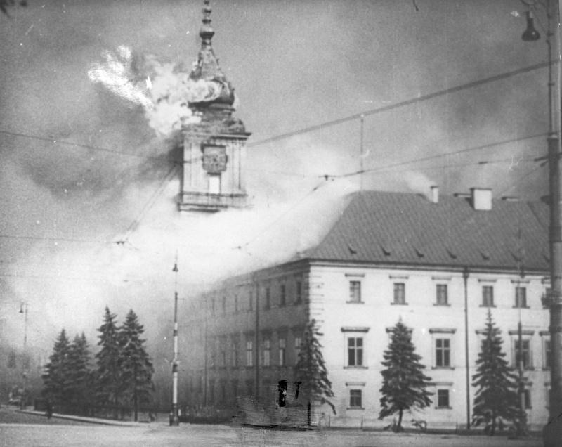Королевский замок в Варшаве, 1939 год