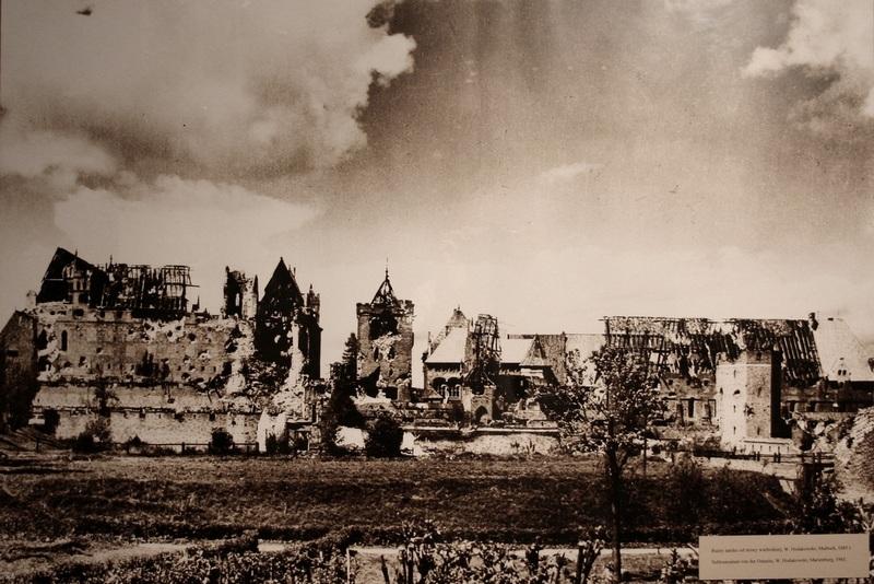 Руины Мальборкского замка, 1945 год