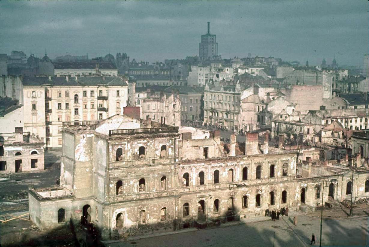 Разрушенная немцами Варшава, 1939 год