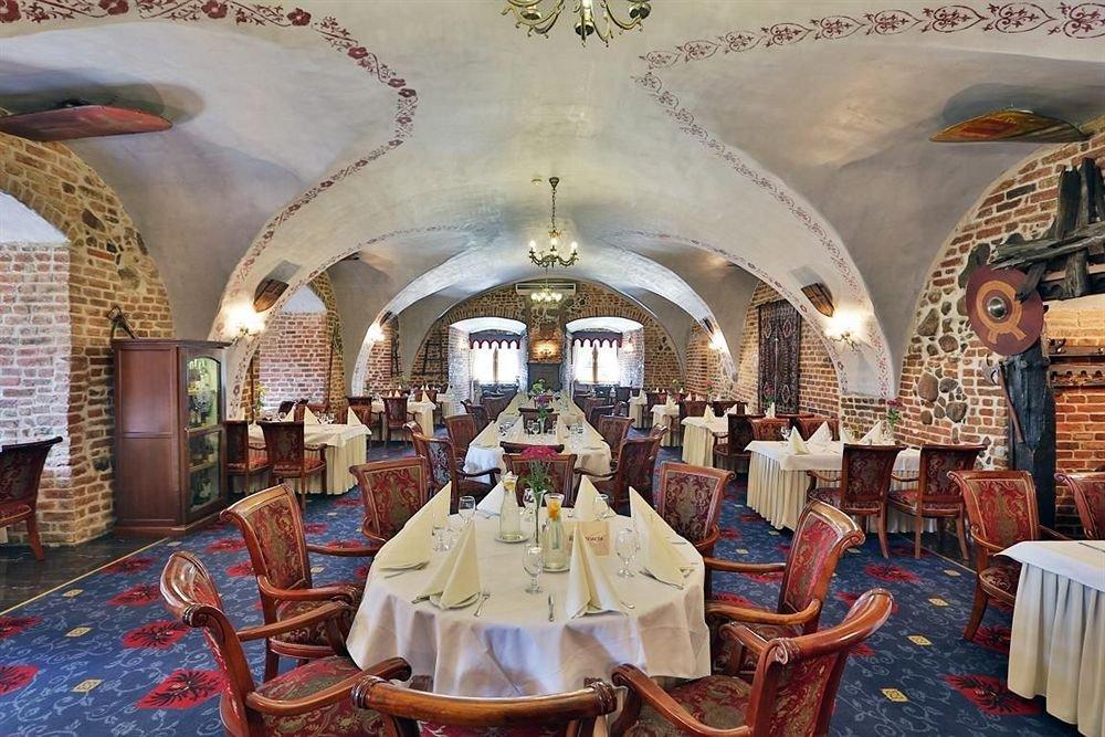Ресторан в отеле замке Рын, Польша