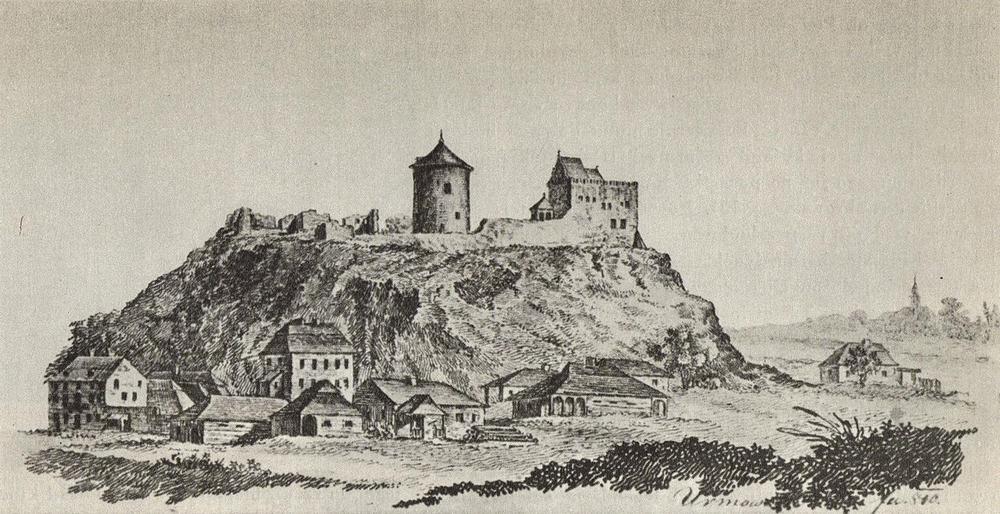 Люблинский замок и еврейский квартал, 1810 год
