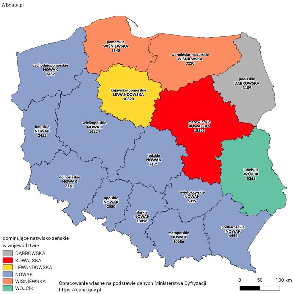 Польские женские фамилии