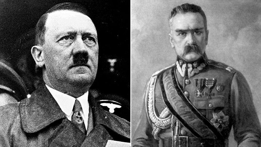 Юзеф Пилсудский и Гитлер